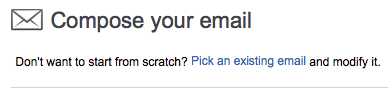 Infusionsoft compose your email.