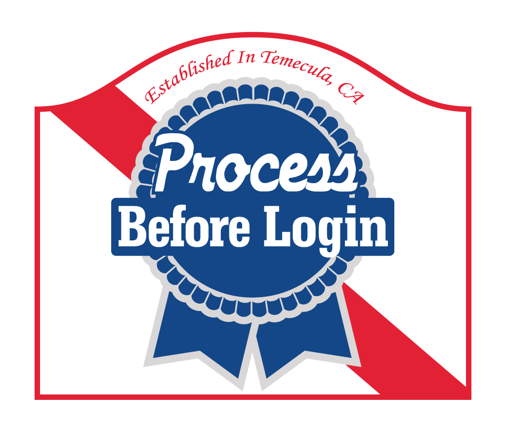 Process before login logo for sales and marketing automation software tutorial.