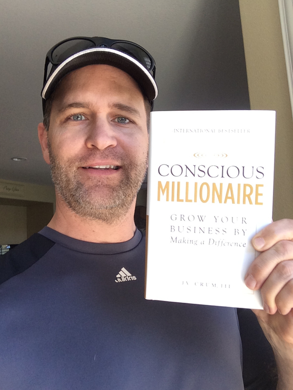 Wes Schaeffer with JV Crum's New Book Conscious Millionaire