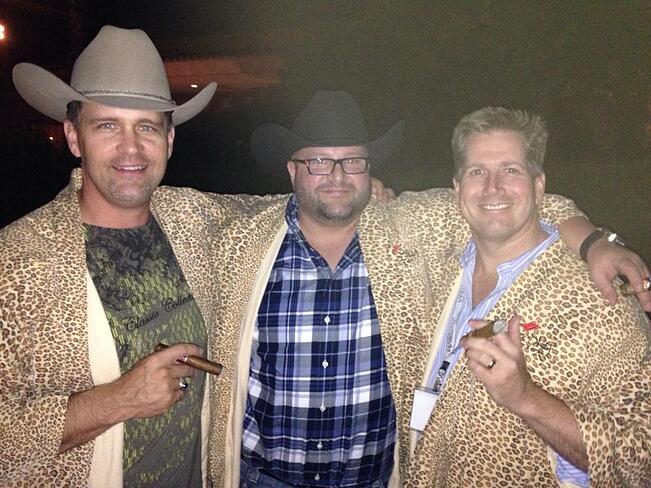 Wes Schaeffer Evan Samurin Chris Austin Leopard Robes and Cigars