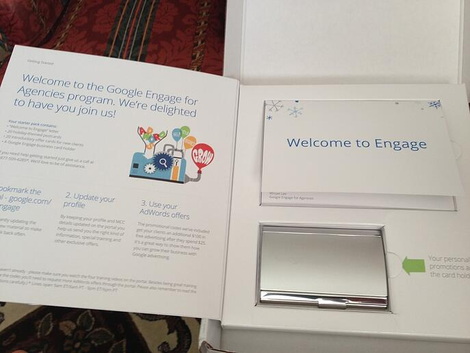 Google Engage is doing direct mail sending nice goodies.