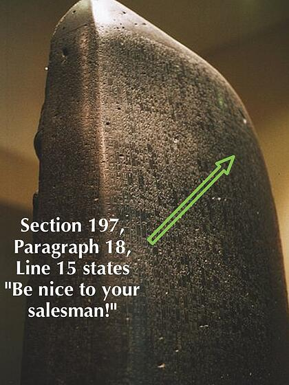 Code of Hammurabi Dealt With Selling,TedX Temecula,sales and marketing