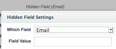 Infusionsoft Hidden Field Email Configuration