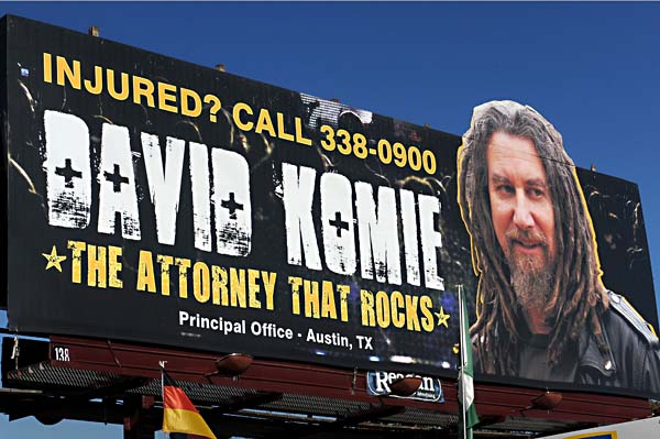 Attorney David Komie has mastered bold direct response marketing for lead generation.