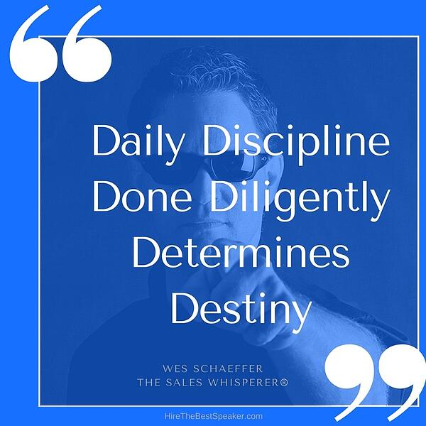 Daily Discipline helps you succeed at cold calling.