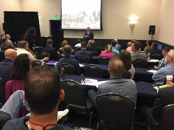 Keynote Speaker Wes Schaeffer at the Chiropractic Marketing Conference.
