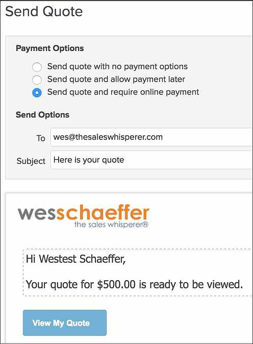 Infusionsoft expert tip to send quotes and collect payments