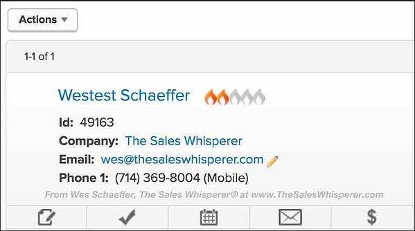 Infusionsoft shortcut to send quotes and collect payments