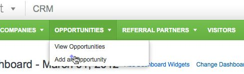 Add new Infusionsoft CRM Opportunities