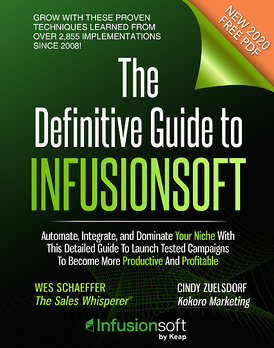 Infusionsoft CRM Book by Wes Schaeffer, The Sales Whisperer®
