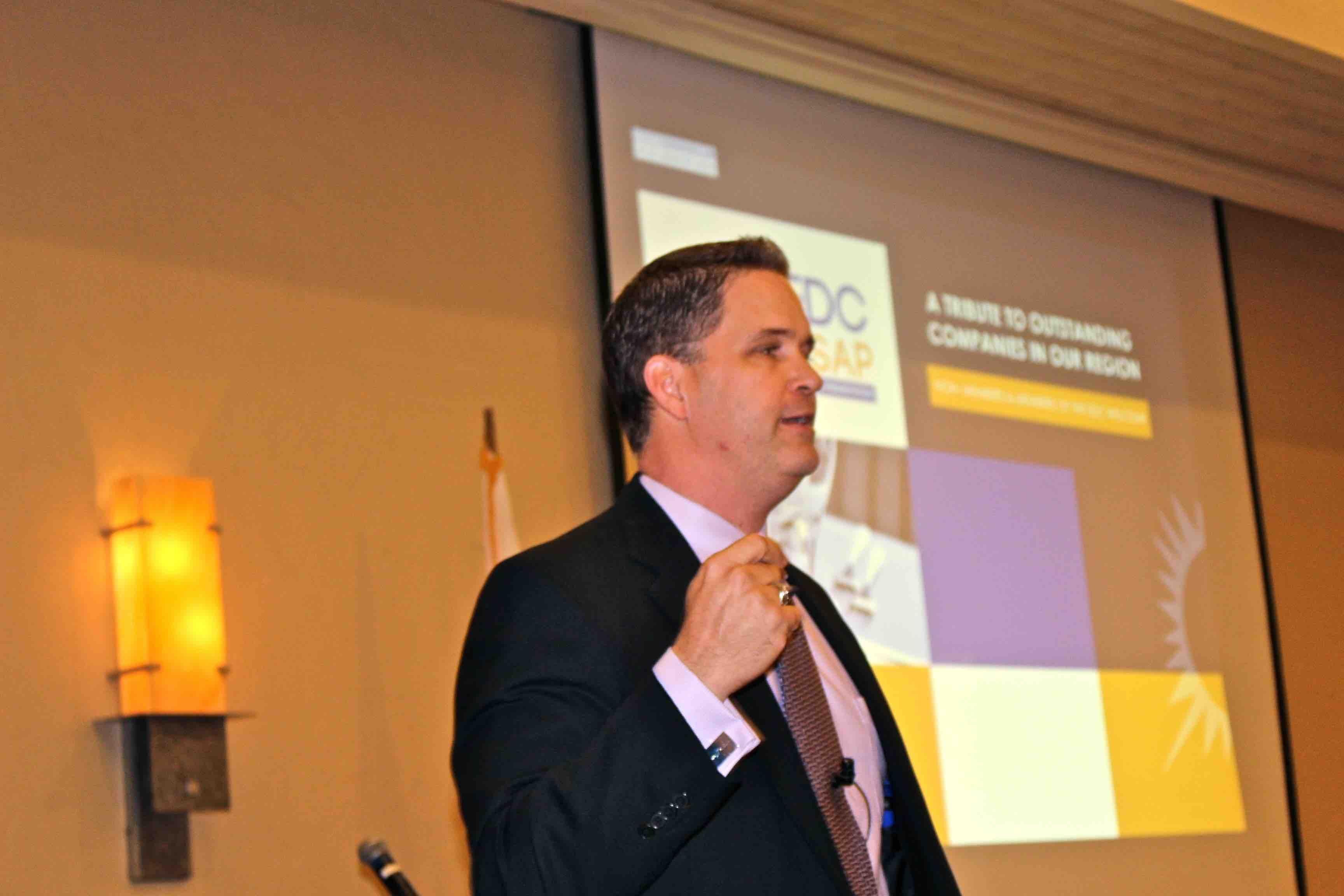 Keynote Speaker Wes Schaeffer at the EDC