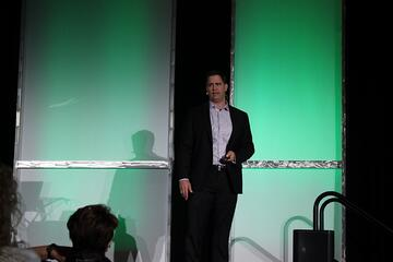 Keynote Speaker Wes Schaeffer at the Infusionsoft Conference.