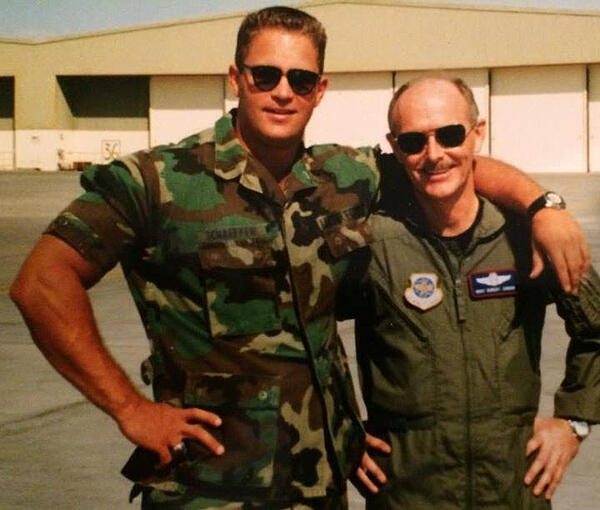 Wes Schaeffer returning to March AFB from the Middle East.