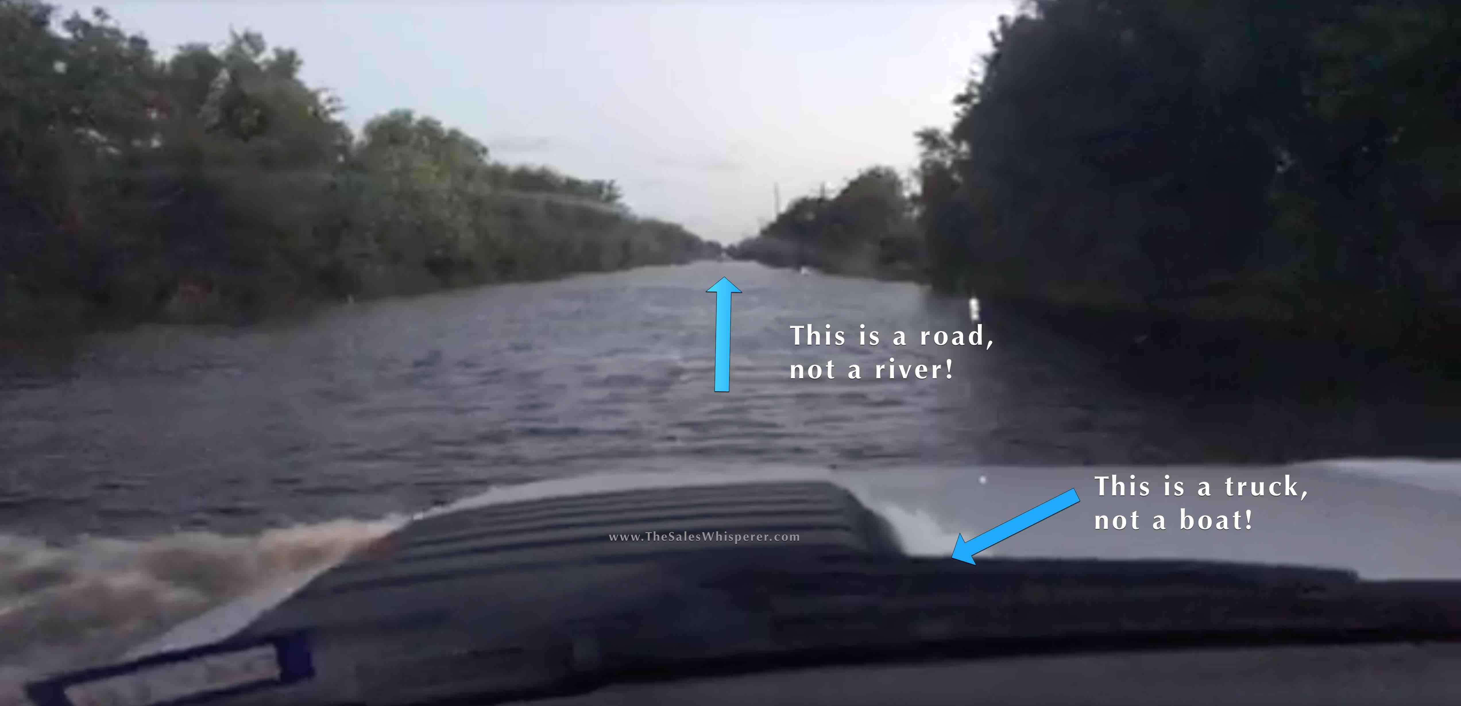 Navigating the flooded roads of Houston after Hurricane Harvey taught me lessons in leadership.
