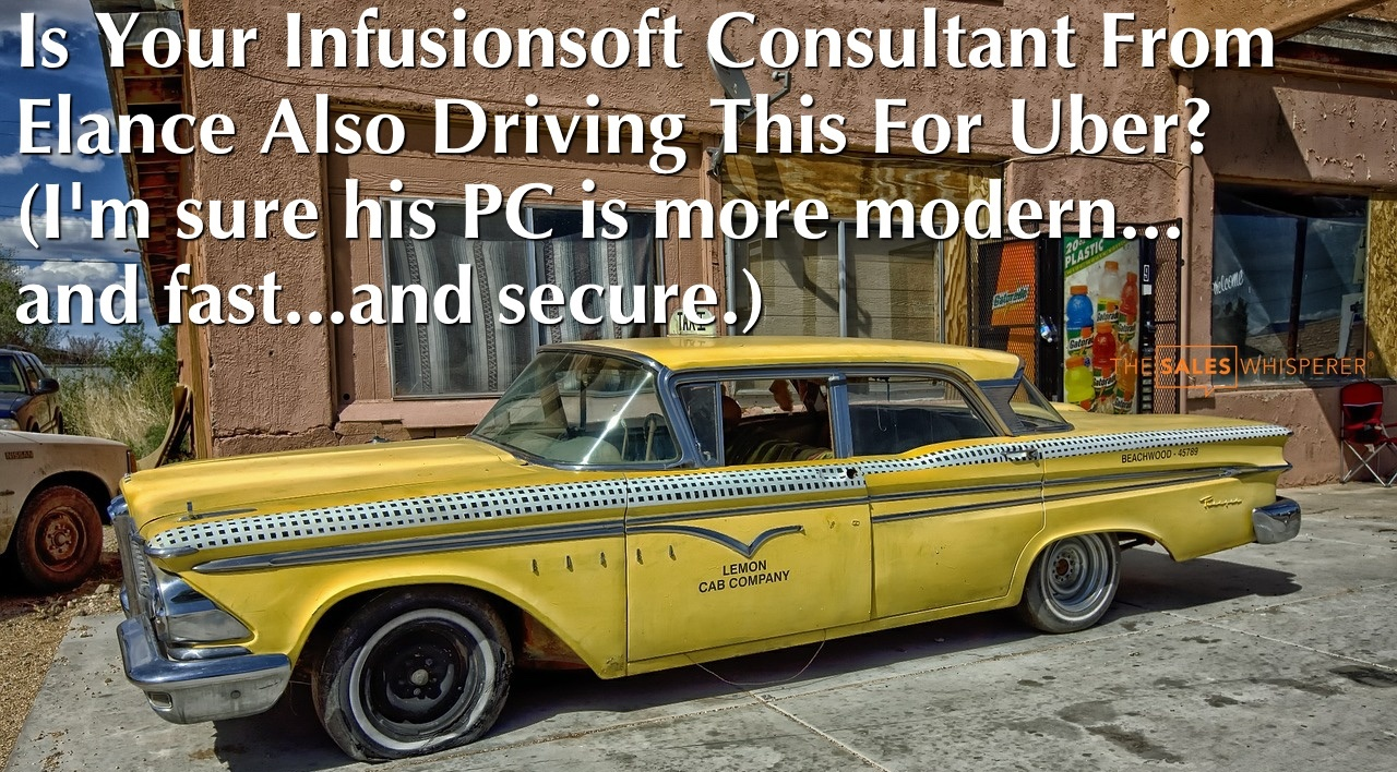 Upwork Infusionsoft consultant by Wes Schaeffer, The Sales Whisperer®