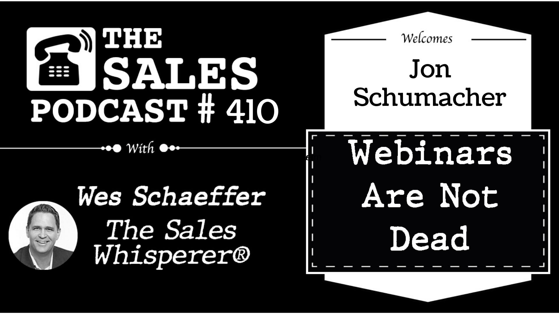 Grow Your Sales With Webinar Expert Jon Schumacher