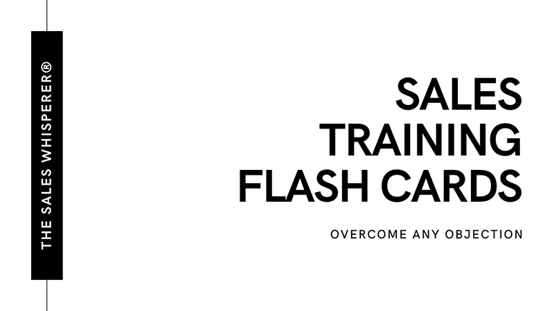 Overcome any objection with these sales training flash cards