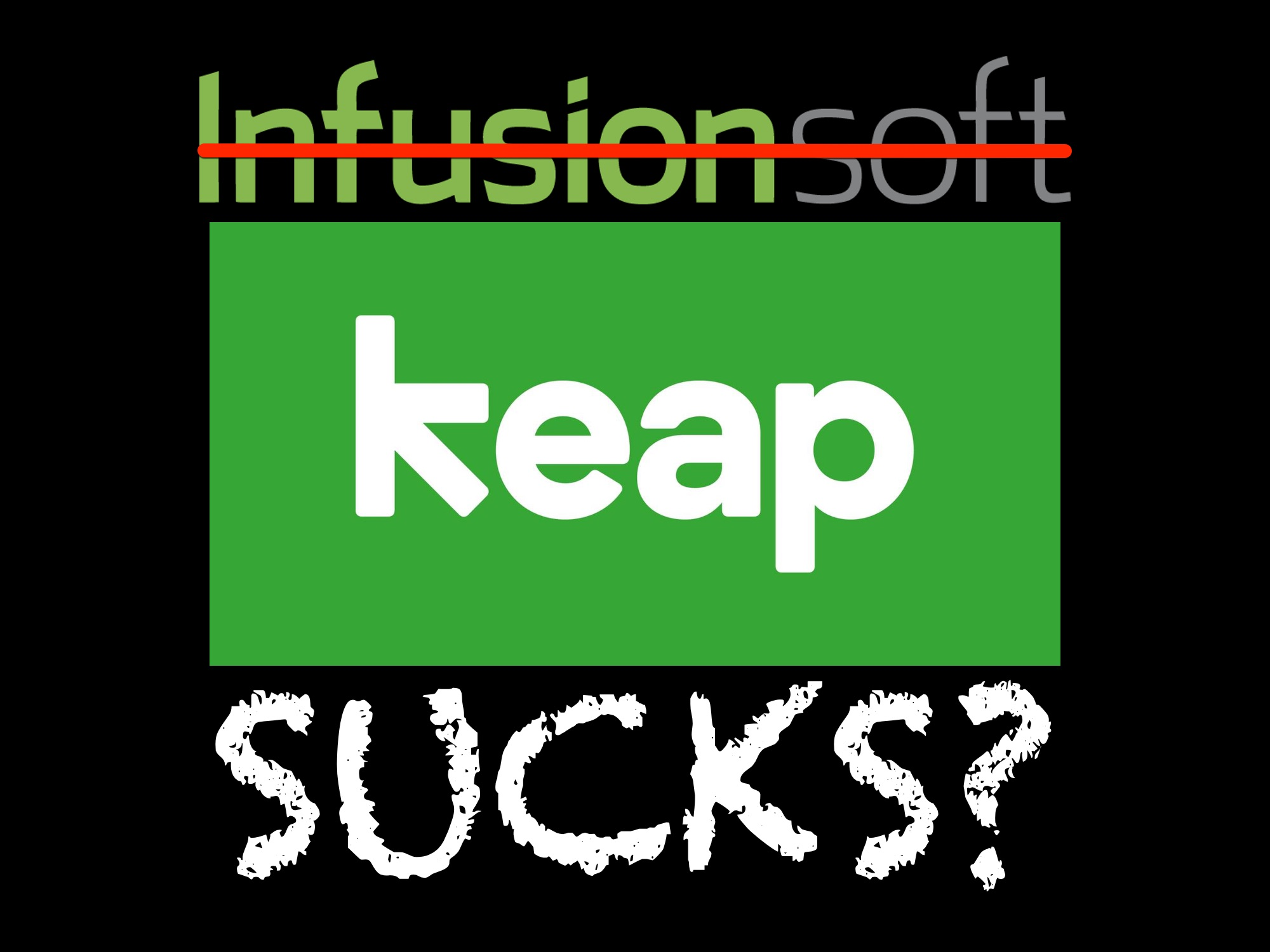 Infusionsoft sucks and Keap sucks? In today's world of digital marketing, who is the best marketing automation?