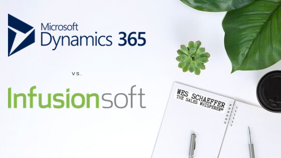 Best CRM comparison series: Microsoft Dynamics vs Infusionsoft by Wes Schaeffer, The Sales Whisperer®