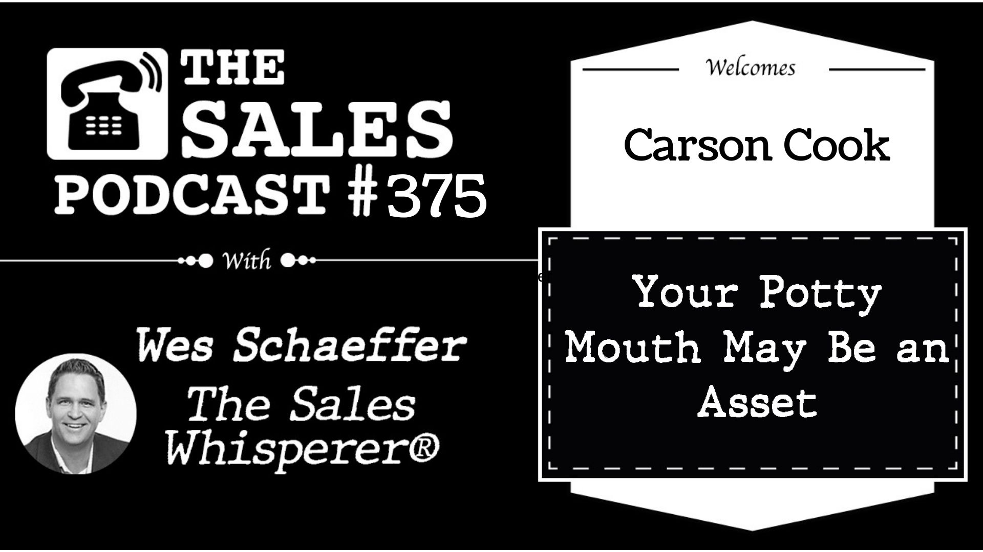 The No Shit Sales Journal Sales Creator, Carson Cook