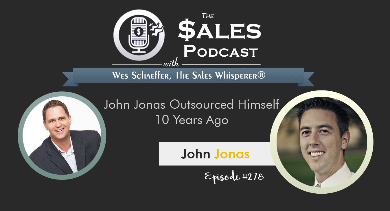 Hear how John Jonas mastered outsourcing to overseas VAs on The Sales Podcast.