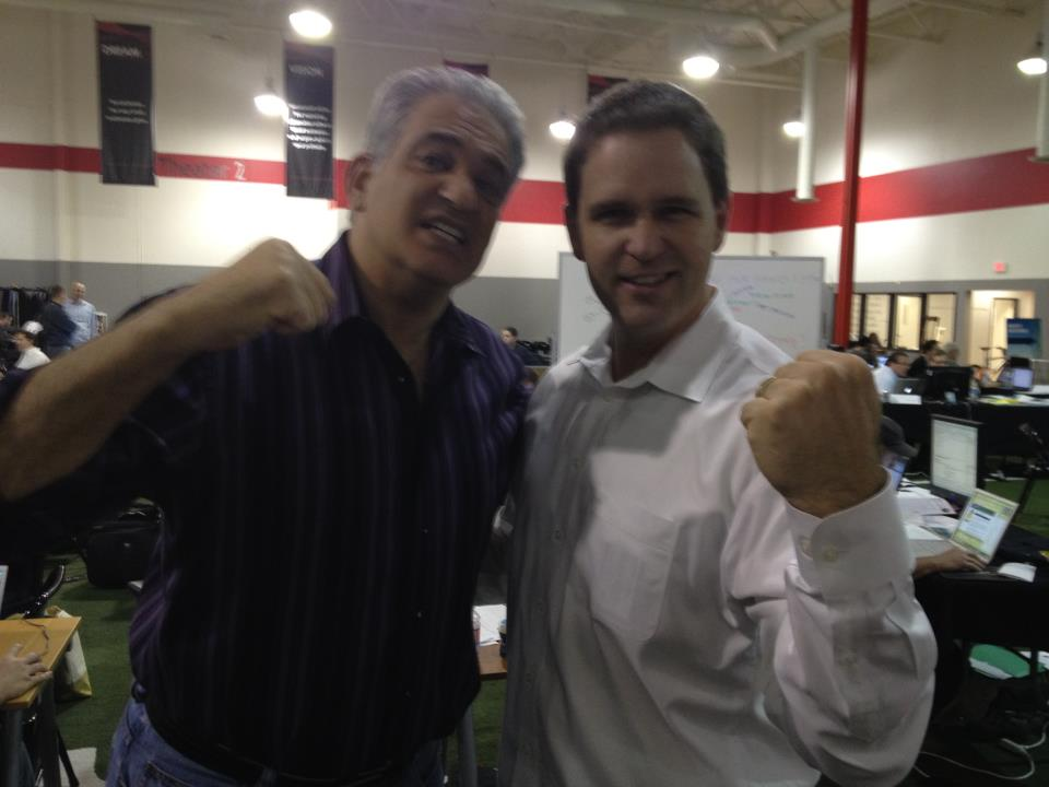 Bob Burg and Wes Schaeffer knock out marketing obstacles at the first Infusionsoft Accelerator in 2011.